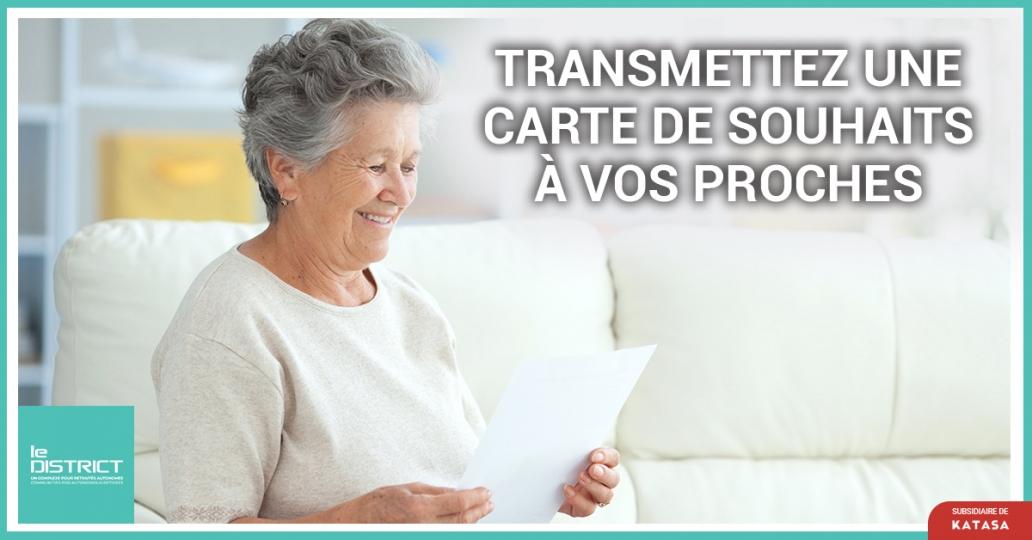 TRANSMETTEZ UNE CARTE DE SOUHAITS À VOS PROCHES