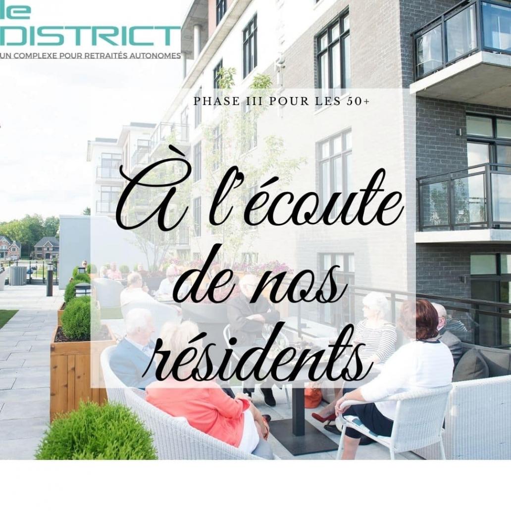 LD phase 3 a l'écoute de nos résidents